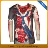 La longue chemise des hommes faits sur commande All Over le T-shirt d'impression de sublimation