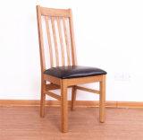 Древесина дуба обедая стул высокого качества кожаный стула коровы стула (M-X1055)