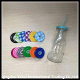 bottiglia di vetro di memoria 200/300ml con il coperchio colorato