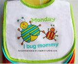 OEM 생성에 의하여 주문을 받아서 만들어진 디자인은 만화 귀여운 면 백색 Babywear 지류 침 수도꼭지를 인쇄했다