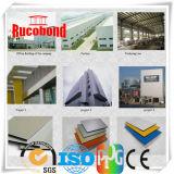 Panneau en tôle d'aluminium Panneau de revêtement mural Panneaux composites en aluminium ACP (RCB2015-N016)