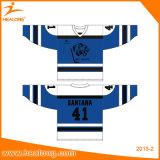 Ihr eigenes kundenspezifisches Hockeyjerseys-Hemd-Sweatshirt-Kleiden spät bilden