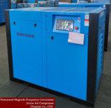 Pétrole lubrifiant le compresseur d'air à deux étages à haute pression de vis de compactage