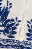 2017 новых конструкций Вязать крючком-Уравновесили белым вышитые хлопком платья женщин