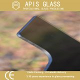 Donker Grijs/Blauw Grijs/Aangemaakt Glas met Opgepoetste Randen die Gaten boren
