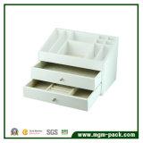 백색 래커를 칠한 나무로 되는 보석 저장 상자