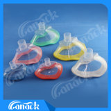 着色された非膨脹可能な麻酔PVCマスク(完全なサイズ)
