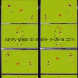 4mm 5mm 6mm 장식적인 녹색 그려진 유리
