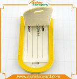 Étiquette de bagage de cuir de modèle de propriétaire
