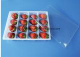 Los PP acarician la bandeja disponible clara del paquete del alimento de la fruta de la ampolla de la cubierta
