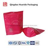 Sac de empaquetage de tirette en plastique refermable pour des vêtements