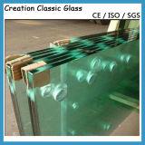 Baixo-e vidro Tempered desobstruído, verde, cinzento, azul