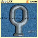 Conexión galvanizada en baño caliente que ajusta el ojo de la bola de acero de Fordged para la horquilla del socket/el anillo colgante principal de la bola