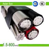 Assistere l'isolamento nero del cavo 0.6/1kv XLPE/PE di ABC di colore di goccia fatto in Cina