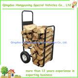 Brennholz-Karre mit den haltbaren Rädern, zum des Holzes leicht zu transportieren