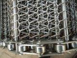 Chaîne de convoyeur en métal/chaîne de convoyeur ceinture à chaînes de maille/bande de conveyeur à chaînes/ceinture de maille