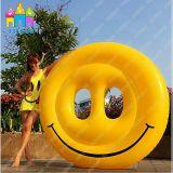 Aufblasbares Pegasus-Schwan-Lächeln-Gesicht, Gesichts-Gleitbetriebe, Emoji Pool-Gleitbetrieb