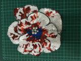Zona Ym-011 del ricamo del fiore delle zone dei Sequins degli accessori dell'indumento