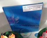 セリウム、ISOが付いている青い塗られたガラス