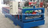 Chapas de aço da cor das camadas dobro da fábrica de China que telham o rolo da máquina, o ondulado e o trapezoidalmente de telhadura da telha que dá forma à máquina