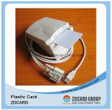 Ясная визитная карточка PVC RFID пластмассы посещая с нестандартной конструкцией