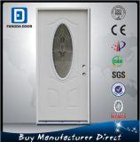 Amerikanische Vor-Gehangene neues Gefühls-Stahlglas/metalleintrag-Tür