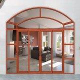 Алюминиевая главная дверь моделирует коммерчески дверь сползая стекла с решетками