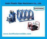 Máquina de soldadura hidráulica da tubulação do HDPE da fusão da extremidade de Sud500h