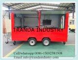 De fabrikant paste de Snelle Mobiele Aanhangwagen van de Keuken van het Voedsel met Ce aan