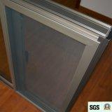 Dunkler Griff mit Schlüssel anodisiertem Aluminiumlegierung-schiebendem Aluminiumfenster mit Moskito-Netz K01069