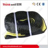 """Cinghia di rimorchio dell'imbracatura di Web di colore giallo del legamento della ricevente dell'anello a """"D"""""""