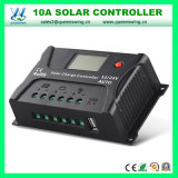 Contrôleur solaire solaire de charge du régulateur 12/24V 10A avec l'affichage à cristaux liquides (QWP-SR-HP2410A)