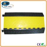 Protetor de borracha da mangueira da tubulação do cabo de 3 canaletas