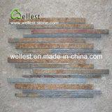 Mosaico oxidado de la pizarra de la pizarra de Brown para la decoración de la pared y del suelo