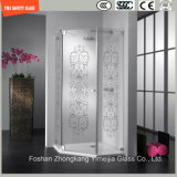 Acid Etched & Silk Screening Safety Shower Glass