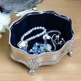 Vintage Godinger Silver Plated Jewelry Box Velvet Lined Floral Art para presentes de casamento