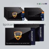 Passaporte RFID do papel da folha de alumínio que obstrui o suporte da luva do cartão