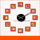 Deorative Wall Photo Frame Clock Quartz Movement Sticker Clock per Decoration From Cina