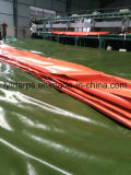 Tende impermeabili della tela incatramata del PE arancione verde militare, coperchio impermeabile della tela incatramata del camion