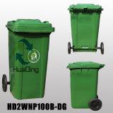 balde do lixo de borracha plástico da roda do escaninho de lixo 100L para Outdoohd2wnp100b-Dg