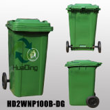 Plastiksortierfach-Gummirad-Abfalleimer des abfall-100L für Outdoohd2wnp100b-Dg