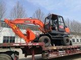最もよい価格のISO9001証明書が付いている新しく赤く小さい車輪の掘削機