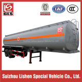 2-Axle 42cbm Aluminum Oil Tank Semi Trailer mit 8 Tires