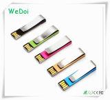 Выдвиженческий привод вспышки USB зажима металла подарка с гарантированностью 1 года (WY-M37)