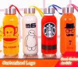 Varia bottiglia di acqua personalizzata di sport della bottiglia di vetro di sport di disegni di marchio