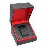 Rectángulo de almacenaje de cuero de lujo de la visualización del embalaje del reloj (W1)