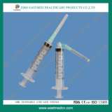 3 Teil-medizinische Wegwerfspritze WegwerfLuer Verschluss-Spritze mit Nadel