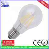 A60/A19 E27/B22 4W LED 필라멘트 전구