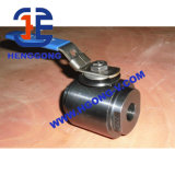 DIN/API/JIS forjó la vávula de bola de alta presión del borde del acero 3PC