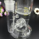 Tubulação de água de vidro de Perc do disco do mel de Bontek para fumar